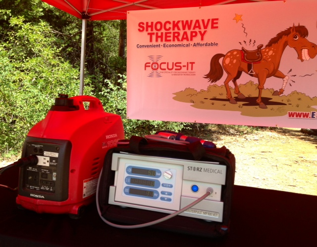 Utilizing a STORZ MASTERPULS shock wave therapy machine outdoors